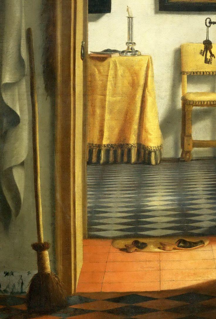 Samuel van Hoogstraten (1627-1678) -- Slippers (Dutch Interior)