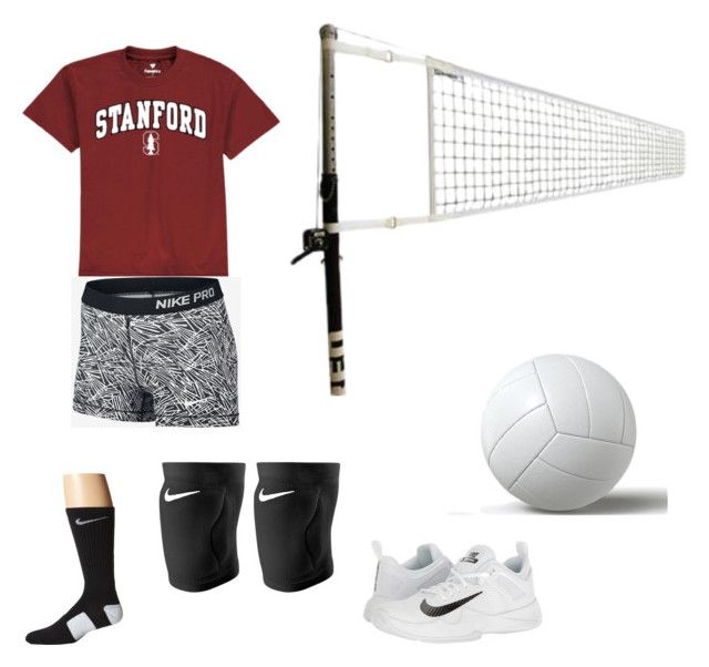 """""""Volleyball❤️❤️"""" by izzyvb on Polyvore featuring NIKE"""