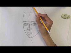 ▶ Уроки рисования. Как нарисовать ЛИЦО ЧЕЛОВЕКА карандашом - YouTube