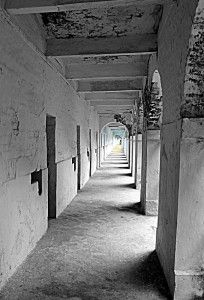 Cells and #corridors at Cellular Jail in #andamans #architecture