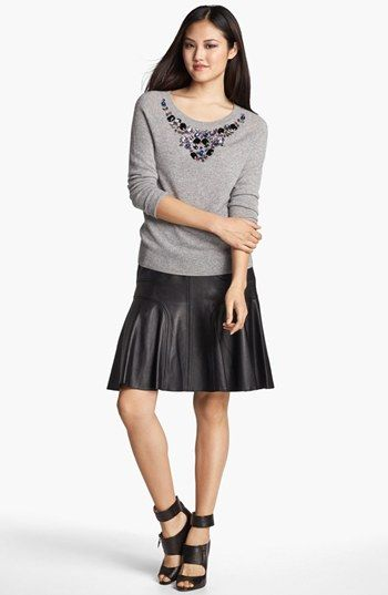 Halogen® Jewel Detail Cashmere Sweater (Petite) available at #Nordstrom