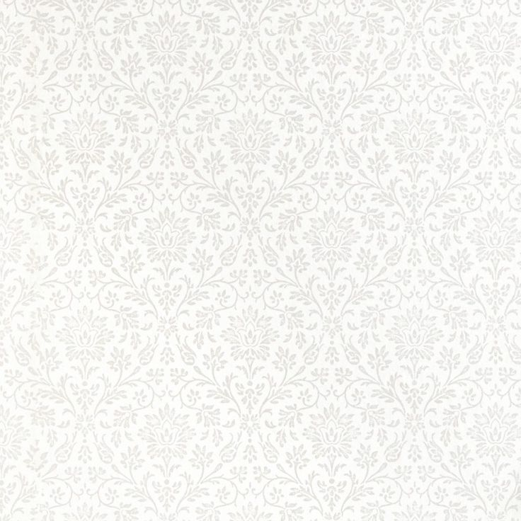 Annecy White/Dove Grey Floral Wallpaper 1