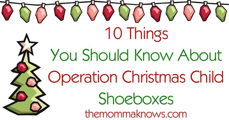 Are you filling your shoebox yet for OCC? Here are 10 Things You Should Know about Operation Christmas Child Shoeboxes