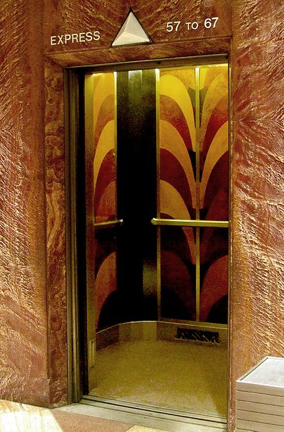 Art d co chrysler building new york ascenseur for Interieur art deco