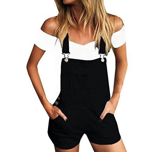 9b4f0732619 WensLTD Women Straps Jumpsuits Overalls Shorts Pants Romper Trousers  Playsuits