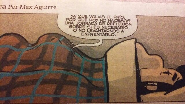 De la tira Genio y Figura dd Max Aguirre, en el diario La Nación