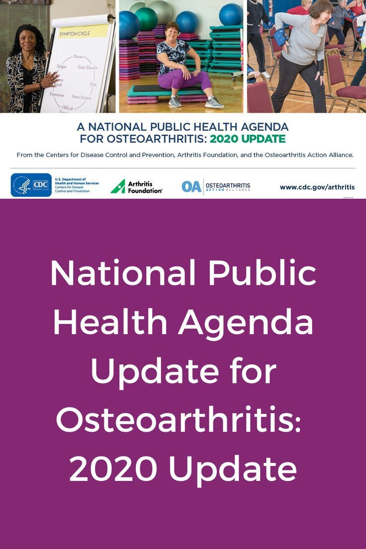 A national public health agenda for osteoarthritis 2020