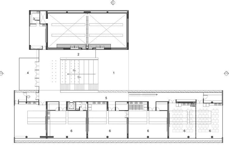 Los Nogales School,Second Floor Plan