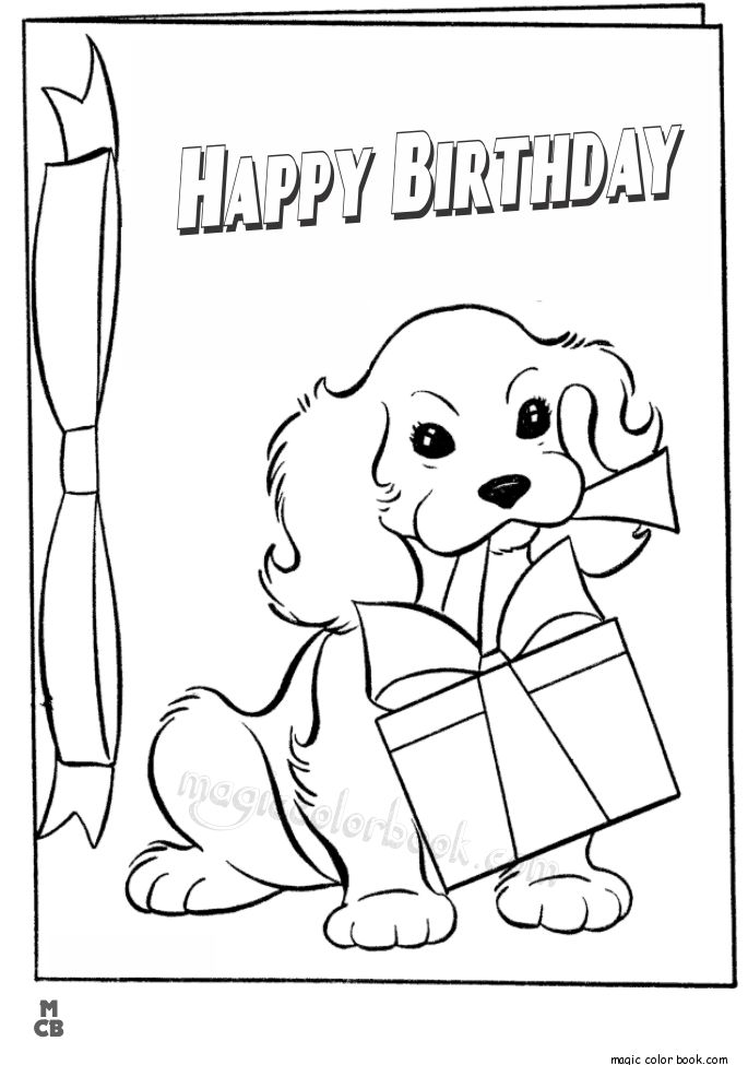 28 best Birthday Coloring pages images on Pinterest