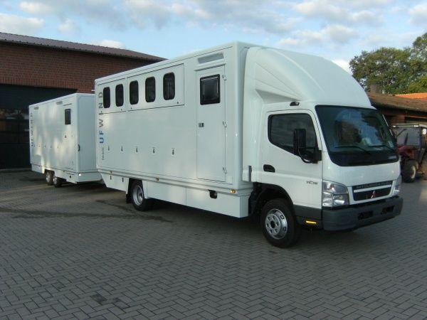 FUSO Canter horse box and trailer. Trucks Pinterest
