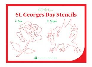 These St. George's Day stencils are a perfect craft activity for your children to complete. These can either be cut out and used as templates to spray onto plain paper, card or material of your choice, or can be drawn or cut out onto coloured card and decorated! Please ensure ALL cutting out is completed with an adult!