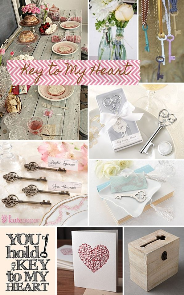 gatsby wedding favors | ... Favors simply elegant key to my heart - heart theme wedding favors