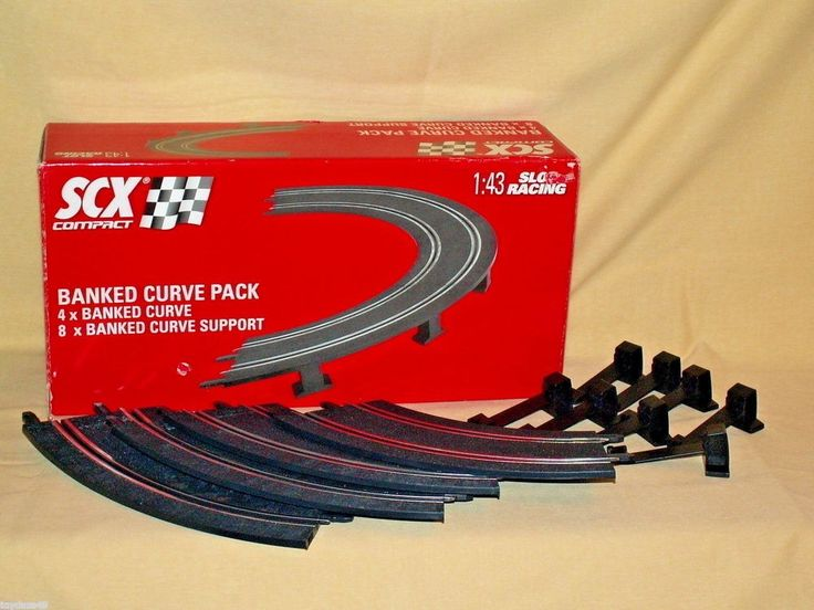 SCX Slot Car Track 1:43 Scale NIB Banked Curve Pack Complete Supports 2008 31400 #JecnitoysJuguelesSCX