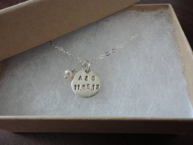 Gorgeous bespoke piece...hand-crafted with bride & groom initials & wedding date! #wedding