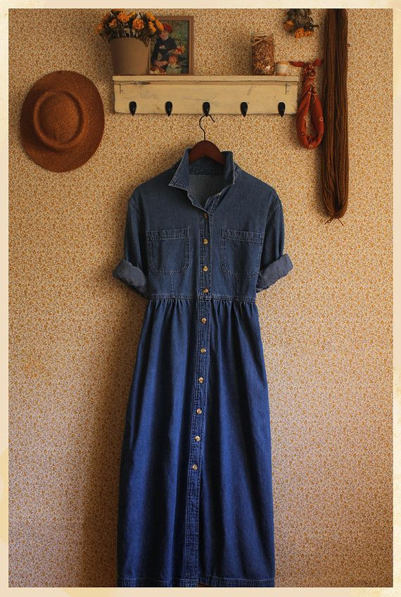 The Michelle Denim Vintage Dress by xMOTHERx on Etsy, $62.00