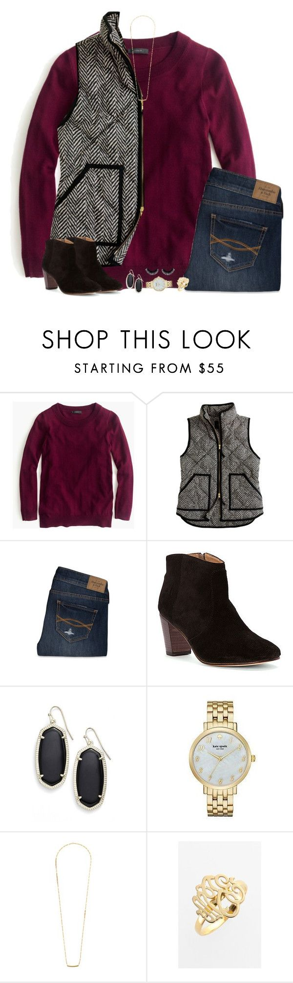 """Something I'd wear"" by smbprep ❤ liked on Polyvore featuring J.Crew, Abercrombie & Fitch, Johnston & Murphy, Kendra Scott, Kate Spade, Dogeared and Jane Basch"