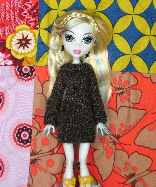 Ravelry: Lavendersky's Monster High Sweater Dress free knitting pattern