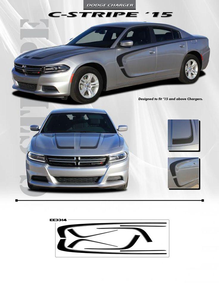 2015 Amp Up Dodge Charger C Stripe Custom 3m Vinyl Graphics