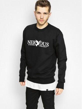 Bluza Nervous Classic Crew (black)
