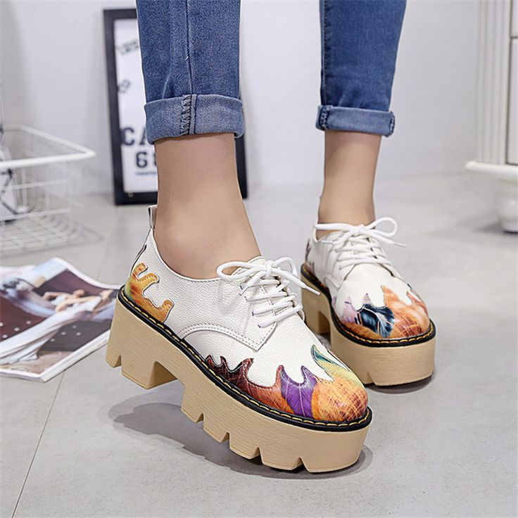 New 2016 Fashion Brand Shoes Women Pumps High Heels Ladies Platform Shoes Autumn Leather Boots creepers women #>=#>=#>=#>=#> Click on the pin to check out discount price, color, size, shipping, etc. Save and like it!