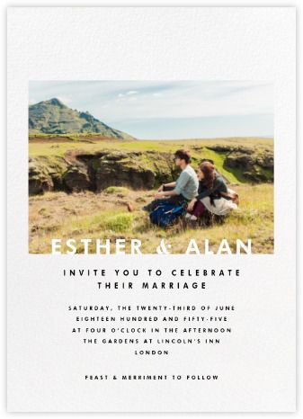Split Square (Invitation) - Paperless Wedding invitations