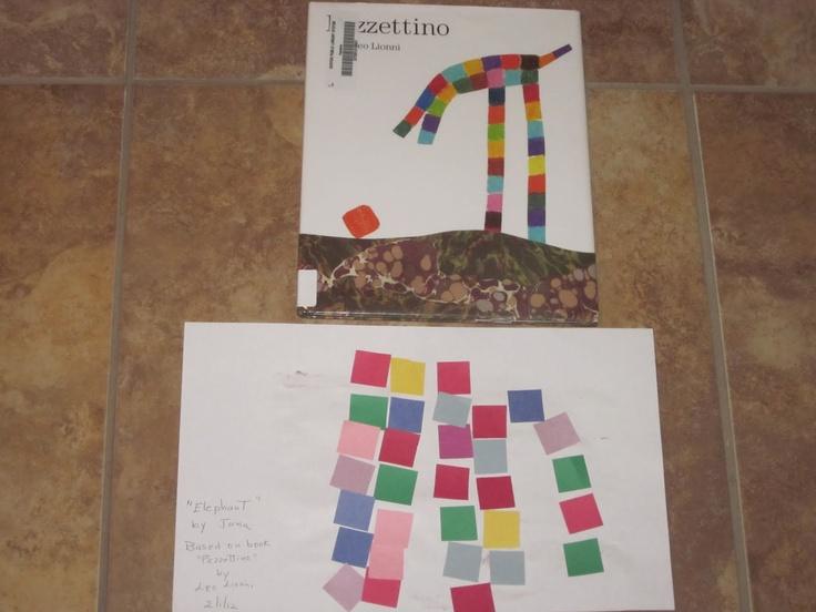 Kindergarten Homeschool Ideas: Pezzettino By Leo Lionni Art Project