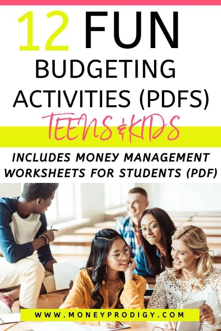 12 Fun Budgeting Activities PDFs for Students (Kids & Teens) in 2020   Kids  money management, Money management activities, Student activities