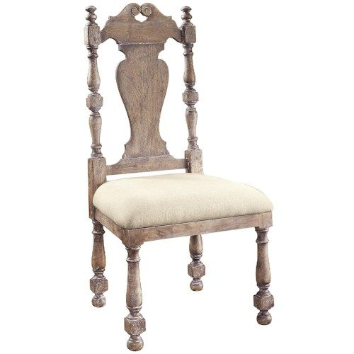 Pulaski Furniture Accentrics Home Kyra Side Chair with Natural Linen Upholstered Seat