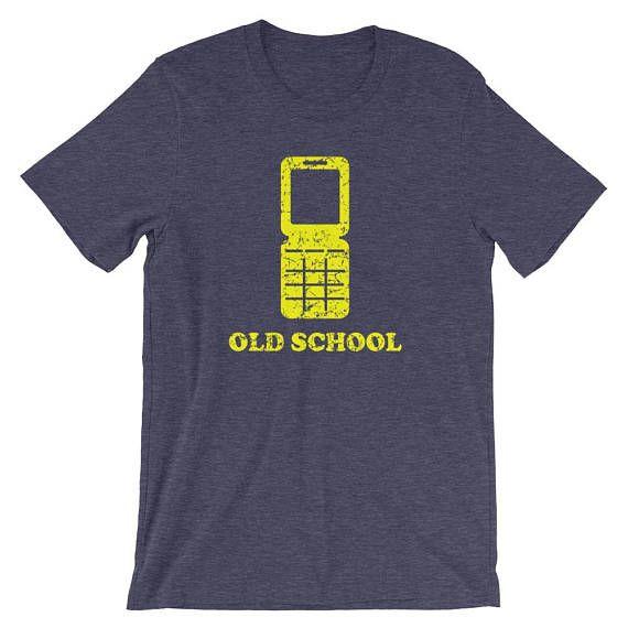 Old School Flip Phone Funny Unisex short sleeve t-shirt