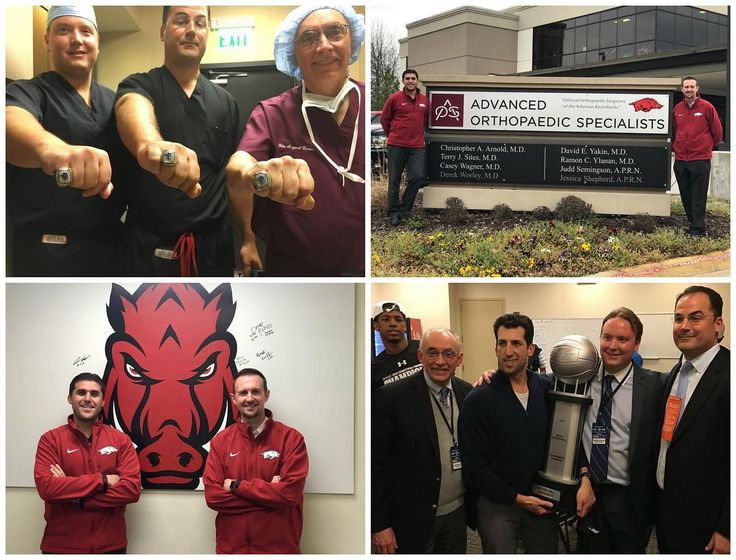 Wishing our #Pirates good luck as they take on the #ArkansasRazorbacks in the first round of the NCAA Mens #Basketball tournament tomorrow. #TeamNJOI has some familiar faces to compete against this time to make this game a fun #rivalry!  Dr. Casey Wagner and Dr. Derek Worley pictured here completed the #AtlanticSportsHealth Morristown Medical Center #SportsMedicine Fellowship' last year. The two completed clinical rotations with #NJOI and worked closely with #SetonHall Sports Medicine to…