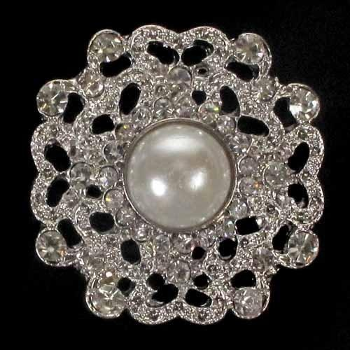 Lille Diamanté Brooch Wedding Invitations Decoration Accessories Jewellery Bling Crystals Rhinestone Pearl Floral Bridal