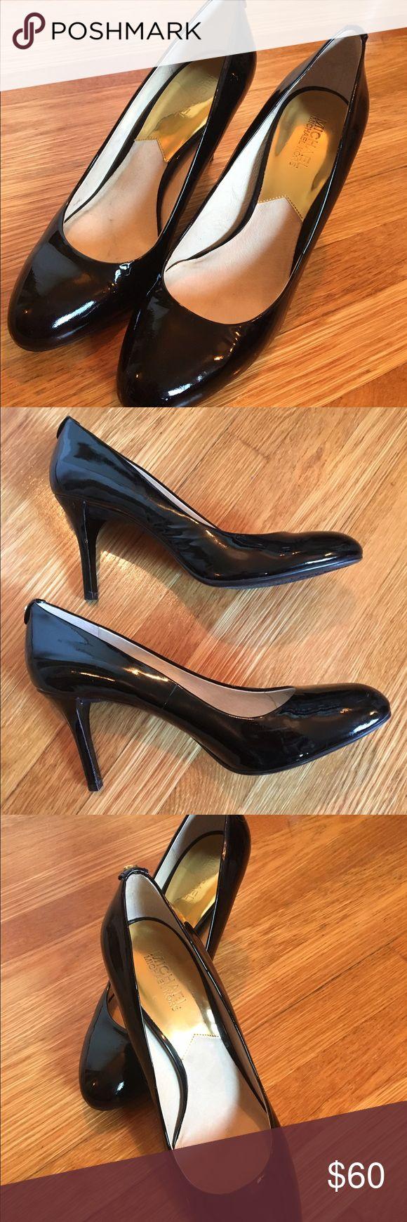 Michael Kors Black Patent Leather Pumps, size 10. Worn once KORS Michael Kors Shoes Heels