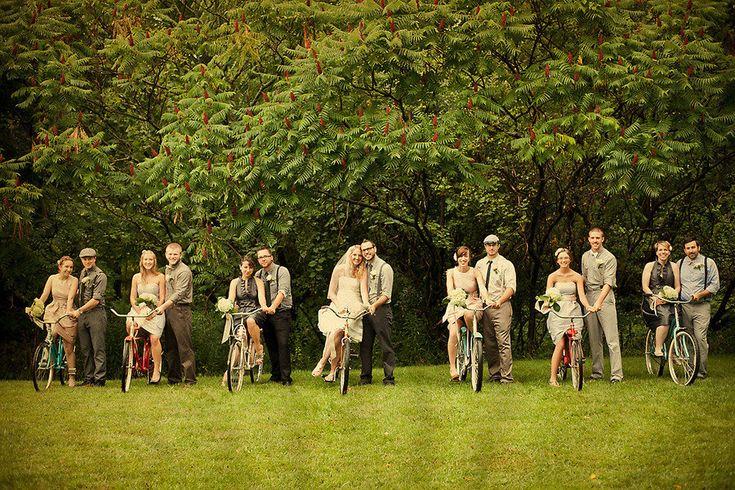 Bicycle theme wedding