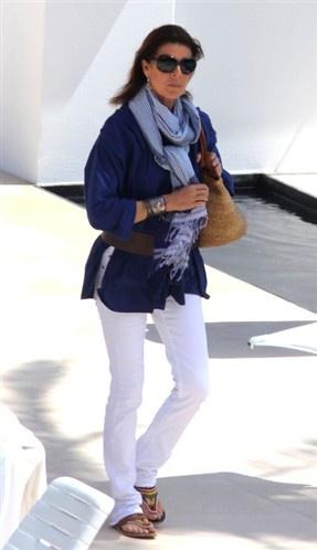 I'll wear white and blue like Caroline de Monaco