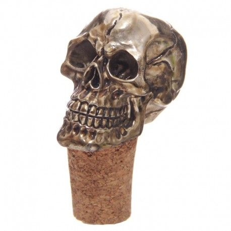 Bouchon de bouteille - Crâne doré
