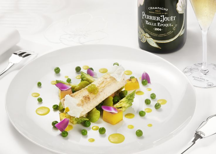 Remember your last seaside summer by serving Perrier-Jouët Belle Epoque 2004 with a delightful sole roulade with lemongrass and fondant mango. #perrierjouet Please Drink Responsibly