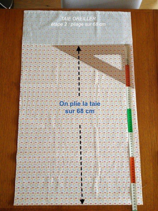 Couture pour la maison, accessible à tous, niveau débutant     Coudre une TAIE RECTANGULAIRE de 47 cm de large x 68 cm de long, avec un ...
