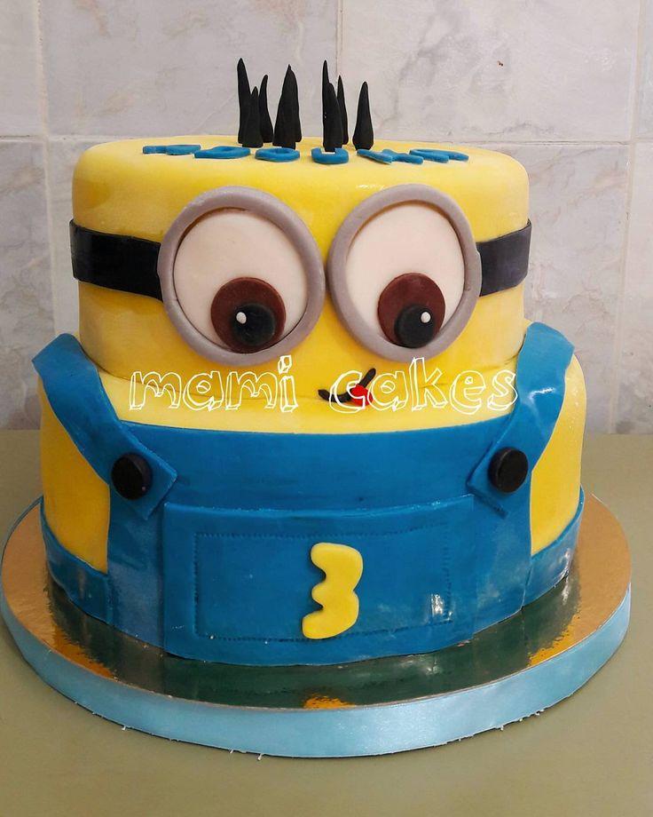 "11 mentions J'aime, 1 commentaires - Mami Cakes (@mami.cakes) sur Instagram: ""#minions #birthday #cake #bob #moimocheetmechant #sugarpaste #art #instacake #fondant #happybirthda…"""