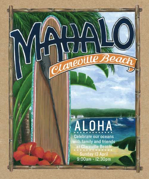 Mahalo Clareville Event Sunday April 13th 2014 9.00am – 12.30pm, 1/2 Hour SUP Lesson,SUP Hire,Super Healthy Breakfast Roll