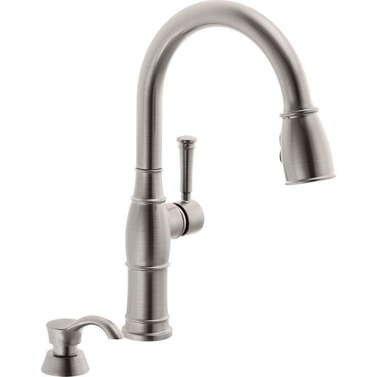 Delta Valdosta Spotshield Stainless 1-Handle Pull-Down Kitchen Faucet Lowes Hawthorne $239 16.50 in