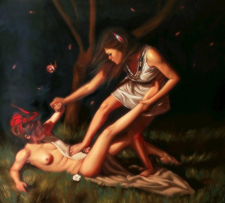 """Susy Saulle """"creature del vento""""  contemporary figurative oil paint"""