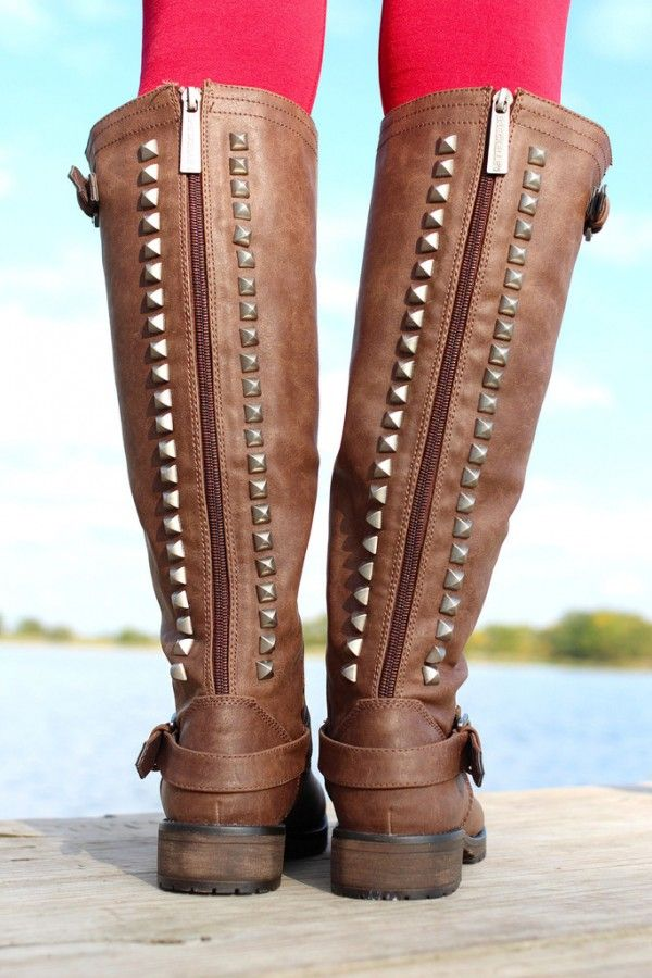 Studded Riding Boot #2013 #studded #riding #boots www.loveitsomuch.com