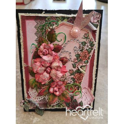 Pink Rose Tag Card