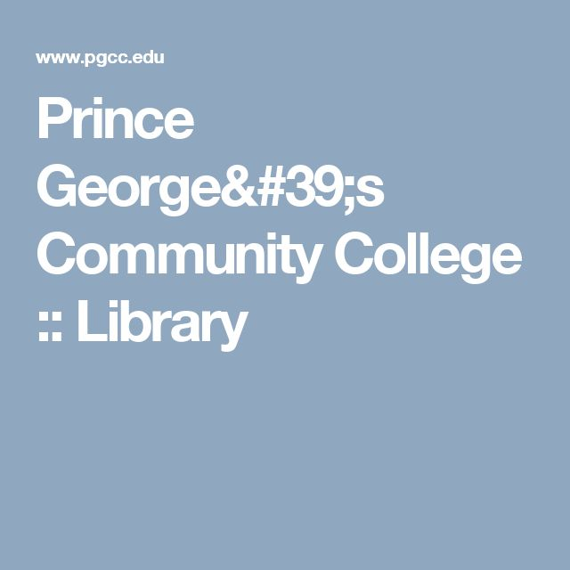 Prince Georges Community College Library