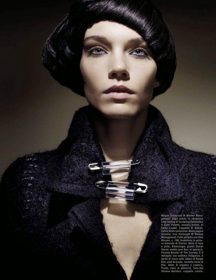 Beauty: Megan Thompson, Lisa Verberght And Pamela Bernier By Emma Summerton For Vogue Italia August 2014