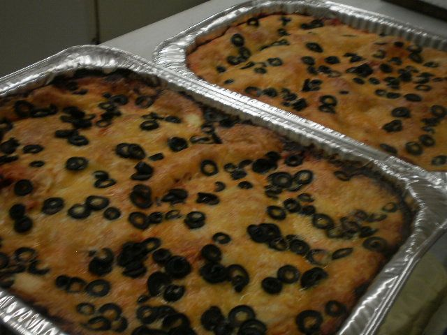 trays of enchiladas for our event