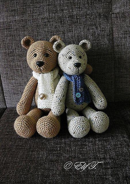 Knitted Teddy Bear Pattern Ravelry : Ravelry: Teddy Bear pattern by Elif T. Mode - crochet ...