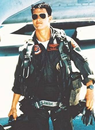 "Tom Cruise. ""Top Gun"" - one of Slater's favorite movies"