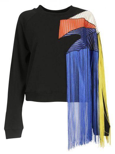 CHRISTOPHER KANE Christopher Kane Fringe Sweater. #christopherkane #cloth #fleeces-tracksuits