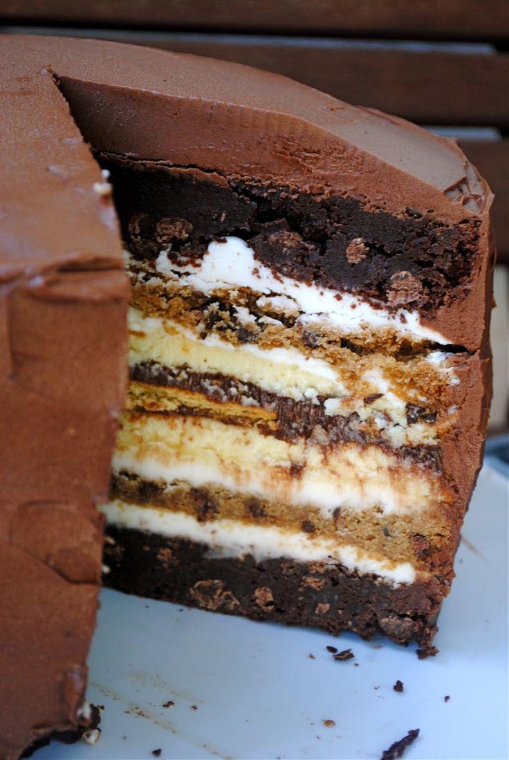 7 Layer S'more Cake!